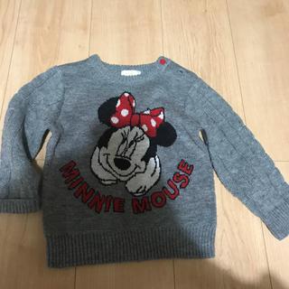 ディズニー(Disney)のミニーちゃんニットトップス95(ニット)