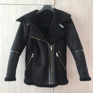 ニュールック(New Look)のイギリスブランドNEW LOOK ライダースジャケット黒(ライダースジャケット)