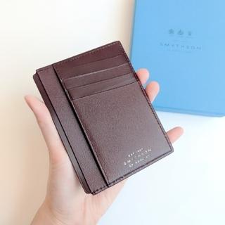 完売色【新品】Smythson 紙幣+カードケース ユニセックス バーガンディー