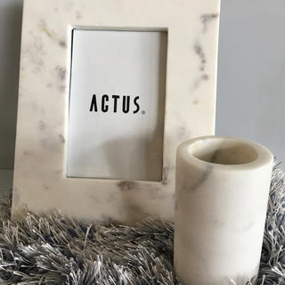アクタス(ACTUS)のアクタス 大理石 キャンドルホルダー(置物)