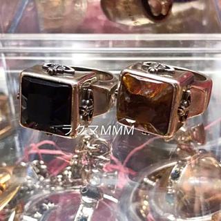 ヴィヴィアンウエストウッド(Vivienne Westwood)のスクエア BOX オニキスリング/XL(リング(指輪))