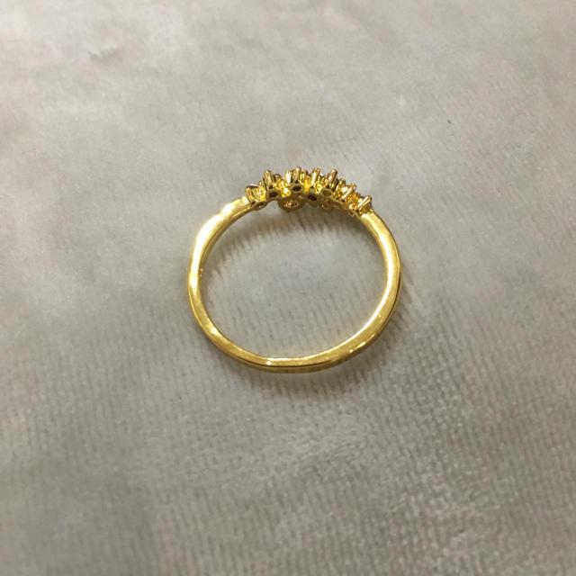 【大きいサイズ】きらきら ゴールドリング レディースのアクセサリー(リング(指輪))の商品写真
