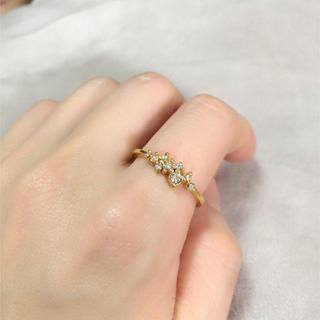 【大きいサイズ】きらきら ゴールドリング(リング(指輪))