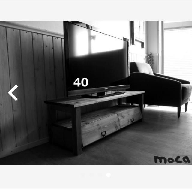 TVラック アンティーク風 (110 B)moca ハンドメイドのインテリア/家具(家具)の商品写真