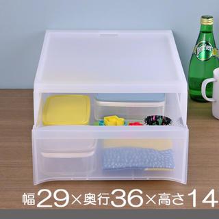 ムジルシリョウヒン(MUJI (無印良品))の収納ケース スタックシステムケース A4サイズ M 約 幅29×奥36×高さ14(ケース/ボックス)