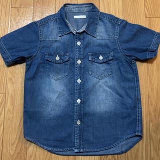 ジーユー(GU)のデニムシャツ 110cm(Tシャツ/カットソー)