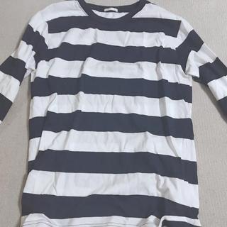 ジーユー(GU)のしましまTシャツ(Tシャツ(長袖/七分))