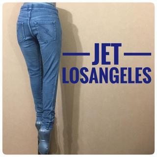 ジェットレーベル(JET LABEL)のジェットロサンゼルス/リラックスデニムパンツ インディゴブルー S(デニム/ジーンズ)