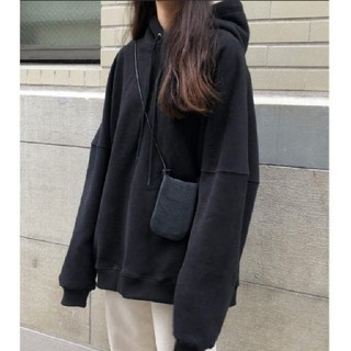 アイスー(i-SOOK)のI-SOOK 裏起毛オーバーフーディ BLACK  新品未使用(パーカー)