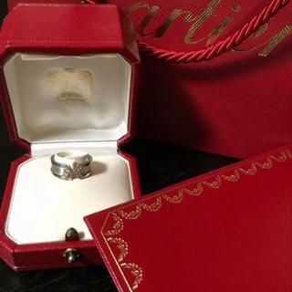 カルティエ(Cartier)の値下げカルティエ 2Cリングダイヤ46ホワイトゴールドラブブレス 指輪ラブリング(リング(指輪))