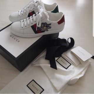 グッチ(Gucci)の19S/S新品国内直営店購入GUCCIグッチエース三匹のこぶたパッチ付スニーカー(スニーカー)