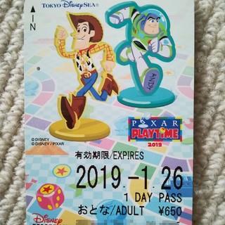 ディズニー(Disney)のディズニー リゾートライン フリーきっぷ リゾラ 35周年 ピクサー 使用済 (鉄道乗車券)