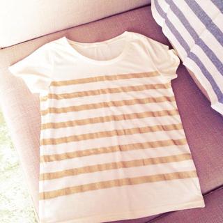 ミスティウーマン(mysty woman)のゴールドボーダーT(Tシャツ(半袖/袖なし))