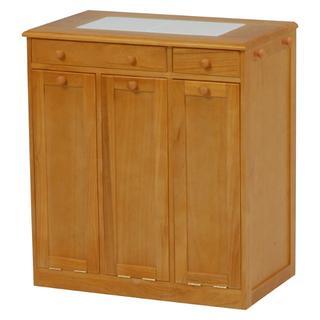 アウトレット ダストボックス ゴミ箱 15L×3 天板タイル(キッチン収納)