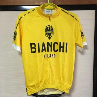 ビアンキ(Bianchi)の【週末値下げ】bianchi ビアンキ ミラノ サイクルジャージ  イエロー S(ウエア)
