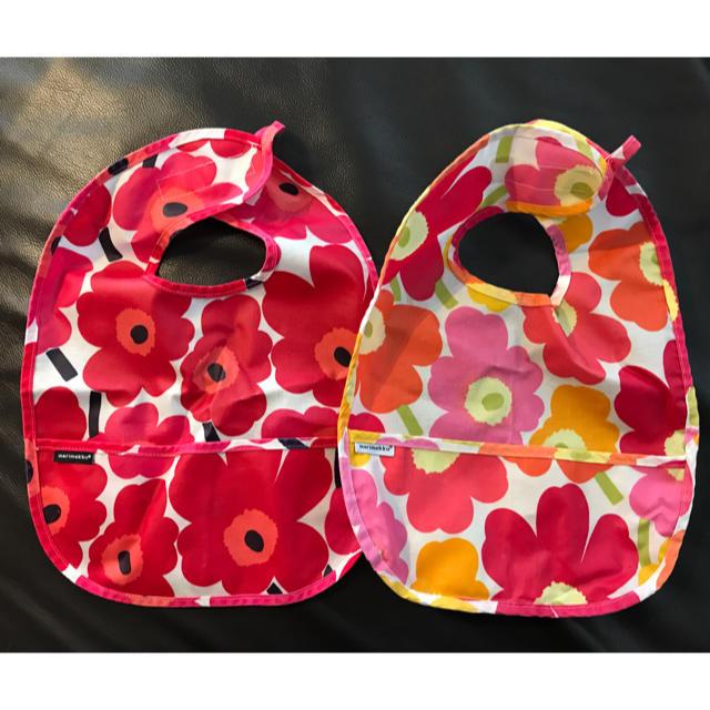 marimekko(マリメッコ)のマリメッコ スタイ 2枚セット キッズ/ベビー/マタニティのこども用ファッション小物(ベビースタイ/よだれかけ)の商品写真