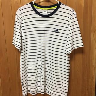 アディダス(adidas)のアディダス ボーダーTシャツ(Tシャツ/カットソー(半袖/袖なし))
