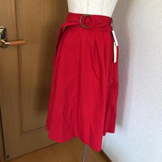 シマムラ(しまむら)の【新品】赤スカート(ロングスカート)