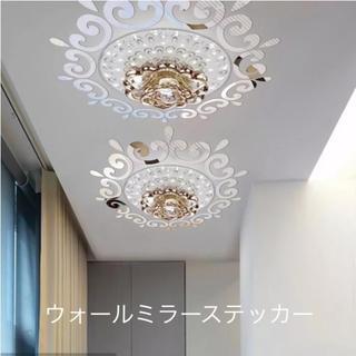 フランフラン(Francfranc)の新品 ウォールステッカー ホームデコレーションミラー シルバー(壁掛けミラー)