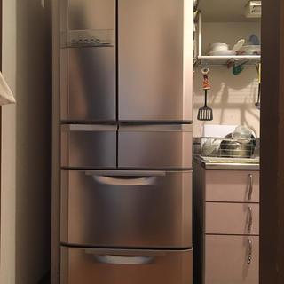 ミツビシデンキ(三菱電機)の‼️激安‼️三菱 MITSUBISHI 冷凍 冷蔵庫 6ドア 445l(冷蔵庫)