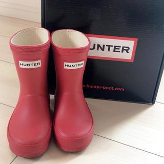 ハンター(HUNTER)の専用♡ハンターレインブーツ レッド UK4 長靴(長靴/レインシューズ)