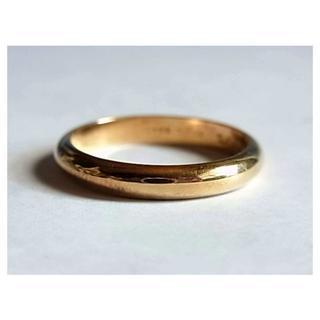 カルティエ(Cartier)のカルティエK18金750リング指輪19号60ゴールドYG日付イニシャル刻印メンズ(リング(指輪))