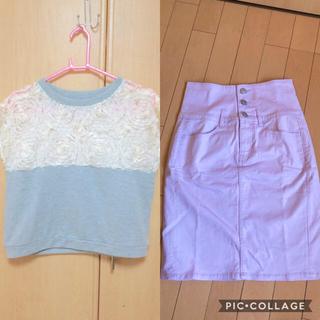 ジーユー(GU)のトップス +スカート セット売り (ミニスカート)