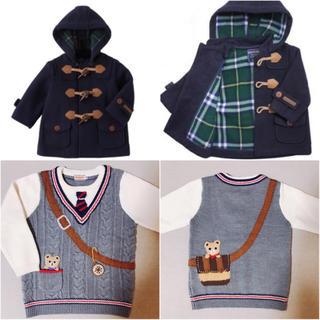ミキハウス(mikihouse)のミキハウス セーター コート セットで(ジャケット/上着)