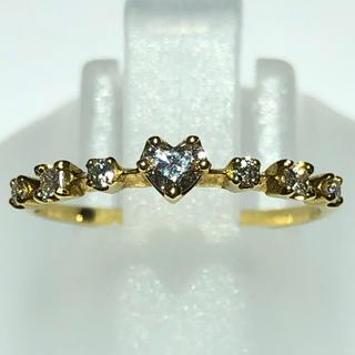 アーカー(AHKAH)のアーカー AHKAH k18yg 18金 ダイヤモンド ハート リング 指輪(リング(指輪))