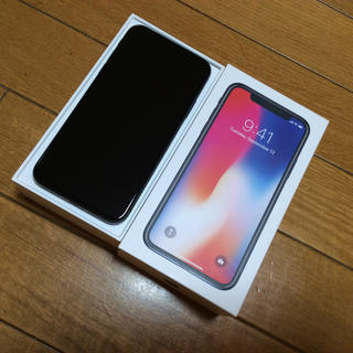 アップル(Apple)のiPhone x 256gb SIMフリー DOCOMO(スマートフォン本体)