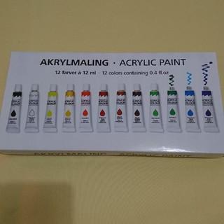 アクリル絵の具 12色  フライングタイガー(絵の具/ポスターカラー )