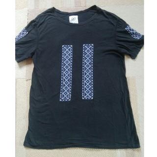 ヴィスヴィム(VISVIM)のvisvim(ビズビム) 幾何学模様刺繍Tシャツ 表示サイズ:L 日本製(Tシャツ/カットソー(半袖/袖なし))
