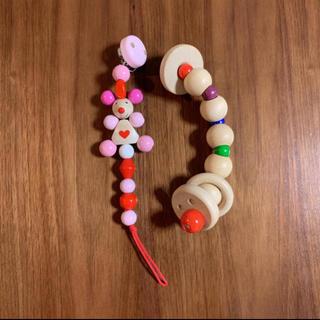 ミキハウス(mikihouse)のGranpapa グランパパ 木のおもちゃ 2個セット(がらがら/ラトル)