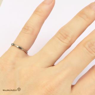 1号サイズ ステンレス製 シルバー色波つやリング 指輪(リング(指輪))
