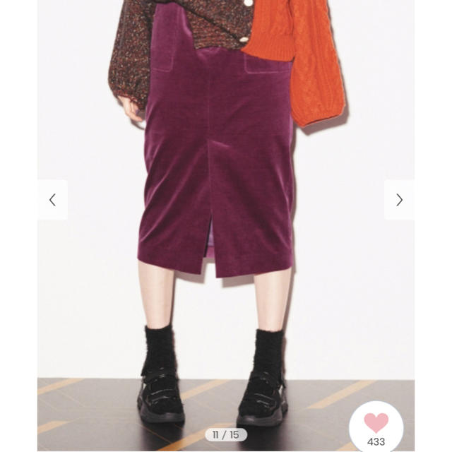Lily Brown(リリーブラウン)の【3/11お値下げ】Lily brown コーデュロイミディタイトスカート レディースのスカート(その他)の商品写真