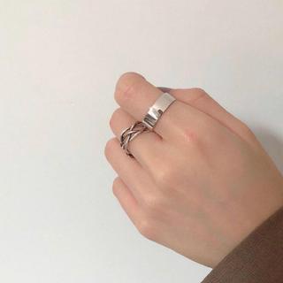 アダムエロぺ(Adam et Rope')のワイドリング シルバー プレート SV925(リング(指輪))