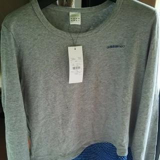 アディダス(adidas)のアディダス   レディース  裾つきロングTシャツ(Tシャツ(長袖/七分))