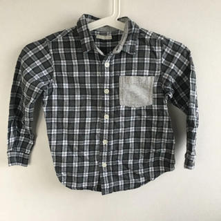 ジーユー(GU)の【中古】GUチェックシャツ(サイズ110)(ブラウス)