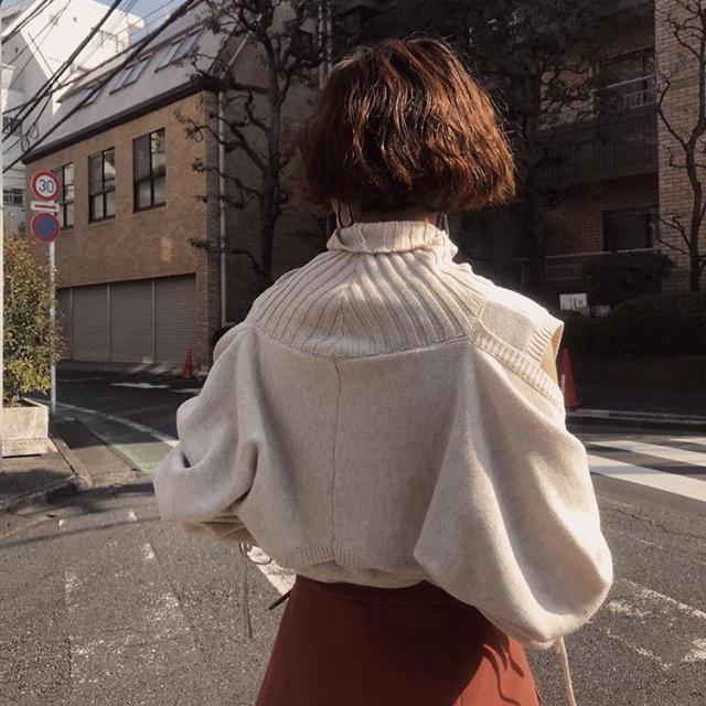 Ameri VINTAGE(アメリヴィンテージ)のDISMANTLE PART KNIT レディースのトップス(ニット/セーター)の商品写真