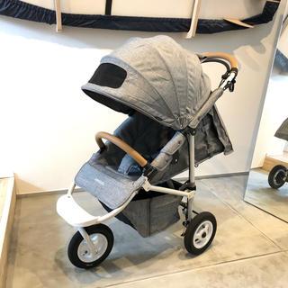 エアバギー(AIRBUGGY)の<美品>エアバギー ココブレーキエクストラ フロムバース アースグレー最新モデル(ベビーカー/バギー)