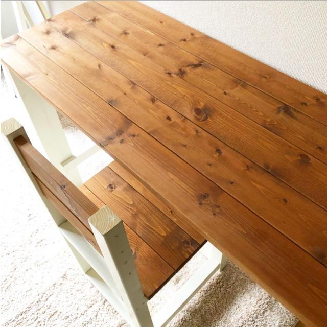 北欧 テーブル&チェアー フレンチ ヨーロピアン アンティーク風 ハンドメイドのインテリア/家具(家具)の商品写真