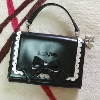 アンジェリックプリティー(Angelic Pretty)のAngelicPretty 二つ折り財布(黒×白)(財布)