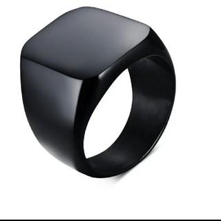メンズ ステンレスリング ブラック10号(リング(指輪))