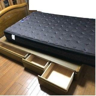 フランスベッド(フランスベッド)の配送可 上位モデル フランスベッド セミダブル 引き出し付き(セミダブルベッド)