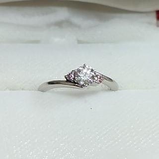値下 ダイヤモンド リング 指輪 ピンクダイヤモンド(リング(指輪))