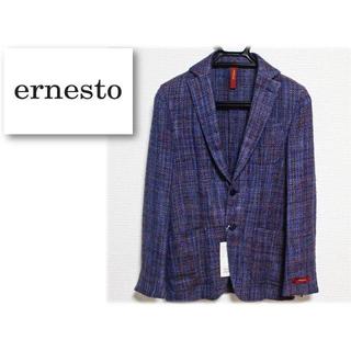 エルネスト(ELNEST)の新品 【エルネスト】シルク混  シングル2Bジャケット イタリア製 紫 44(テーラードジャケット)
