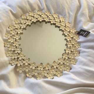 フランフラン(Francfranc)のフラワー ミラー 鏡(壁掛けミラー)