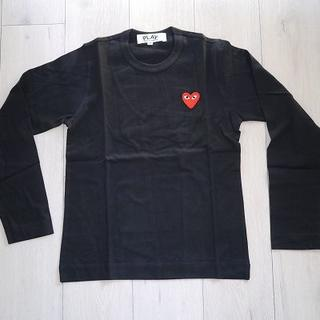 コムデギャルソン(COMME des GARCONS)のPLAY コムデギャルソン プレイ ロンT (黒×赤)Lサイズ(Tシャツ/カットソー(七分/長袖))