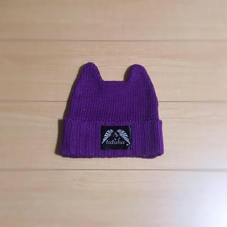 チュチュア(tutuHA)のほぼ新品 デビル ニット帽 猫耳 V系 バンギャ (314(ニット帽/ビーニー)