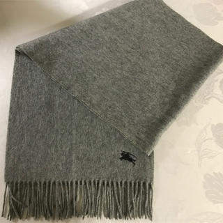 バーバリー(BURBERRY)の未使用!カシミヤ100% バーバリー マフラー  ロゴ刺繍(マフラー)